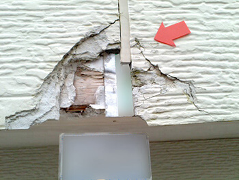 外壁の割れ補修